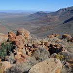 View across the Tankwa Karoo from the Gannaga Pass