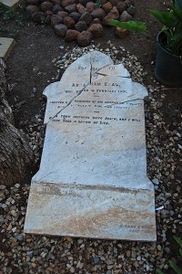 Shattered headstone of Abraham Esau in the Calvinia Museum