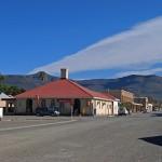 Calvinia street scene with the Hantam Mountains