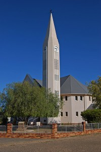 Art Deco style Dutch Reformed Church in Loeriesfontein