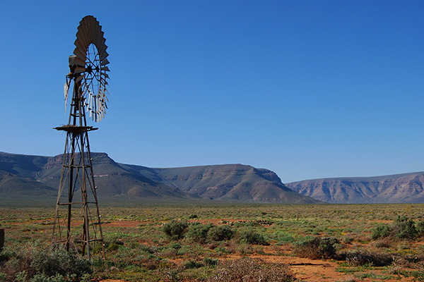 Windpump in the Tankwa Karoo National Park