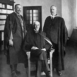 John X Merriman (seated), last Prime Minister of the Cape Colony and member of Parliament for Victoria West together with Generals Louis Botha and Jan Smuts