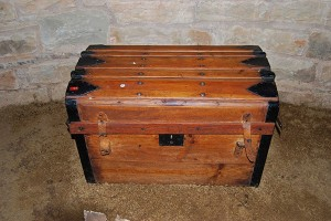 Original yellowwood trunk used by the Trekboers in their ox wagons