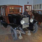 The old Chevrolet Hearse on show in the Carnarvon Museum