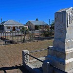 Monument to Reverend Pieter Rossouw in the NG Kerk Grounds