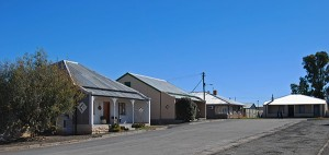 Typical Karoo cottages in Fraserburg