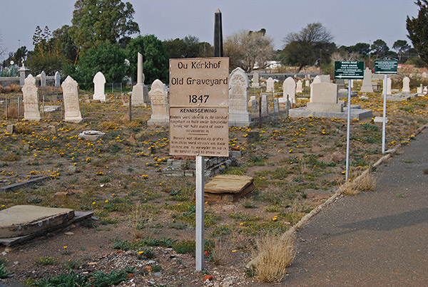 Flood Victims of 1871 are buried in the historic Graveyard in Victoria West