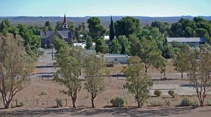 View across Loxton Village