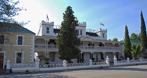 The Lord Milner Hotel was built during the Anglo Boer War and its turrets were used as lookout posts