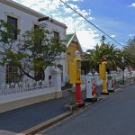Matjiesfontein petrol station is located next to the Laird's Arms