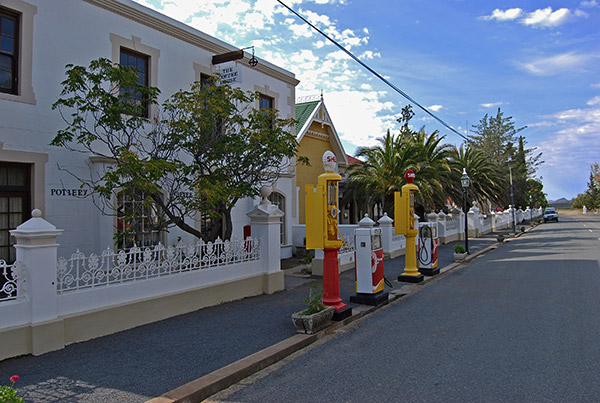 Matjiesfontein petrol station is located outside the village's coffee house