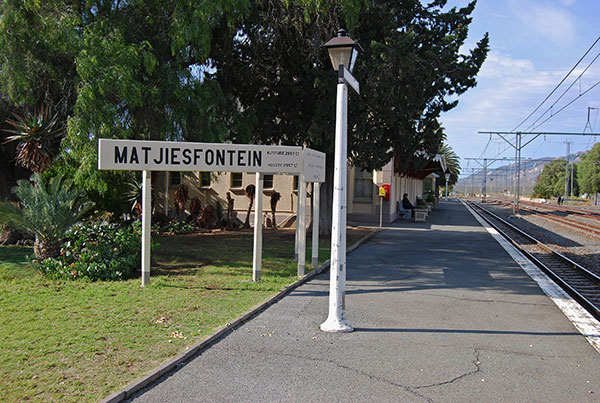 In the golden age of rail travel in South Africa Matjiesfontein was an important stop on the long journey from Cape Town to Kimberley and Johannesburg
