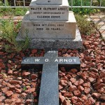 The headstone for Lieutenant Walter Arnot's grave was commissioned by his wife Eleanor Seabrook