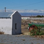 An old trek wagon in Prince Albert Road reminds us of a time when travel in the Karoo was slow and uncomfortable