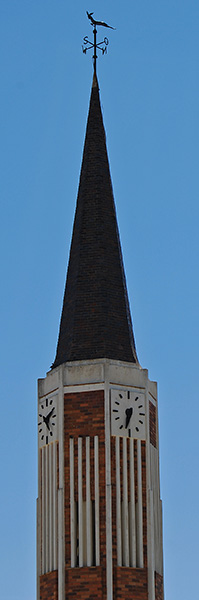 The Rietbron NG Kerk boasts the only springbok weather vane in South Africa