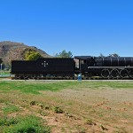 The South African Railways Class 23 locomotive on display in the municipal gardens was designed in 1938 as a general-utility locomotive