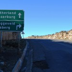 At the summit of the Verlatekloof Pass the traveller reaches the turnoff to the Komsberg and the Moordenaars Karoo