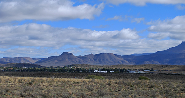 The Nuweveld Mountains tower above Beaufort West