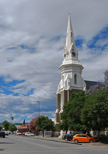 The graceful Dutch Reformed Church in Beaufort West