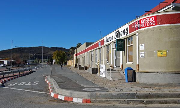 Karoo Biltong enjoys a prominent position on Voortrekker Street in Laingsburg
