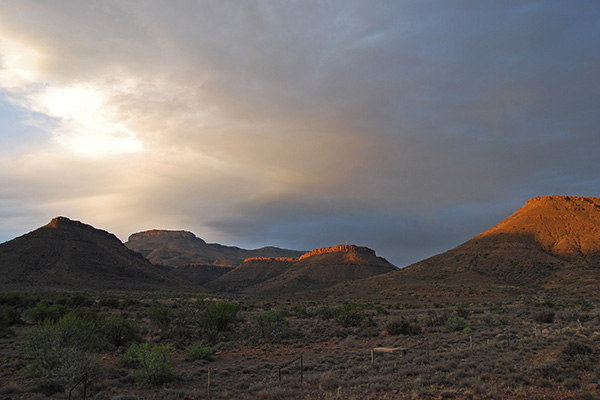 Evening glow across the Nuweveld Mountains