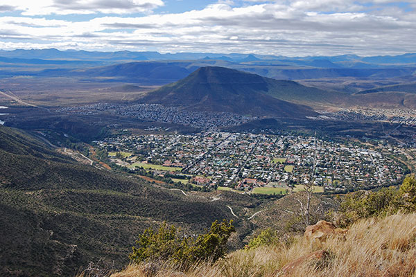 Graaff-Reinet from the Toposcope