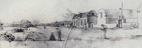 View of Church Street and the Drostdy in 1812 by WJ Burchell