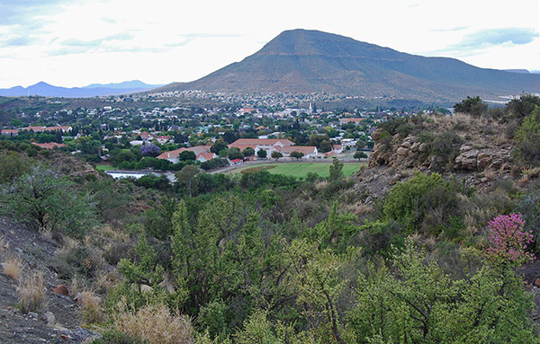 View across Graaff-Reinet from the Mountain Drive