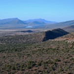 View towards Graaff-Reinet from the Oudeberg Mountain Pass