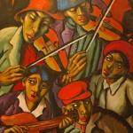 Street Musicians by Johannes Meintjies - Hester Rupert Art Museum