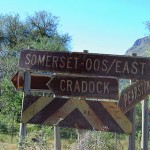 Lonely crossroads at the southern end of the Swaerhoek Valley