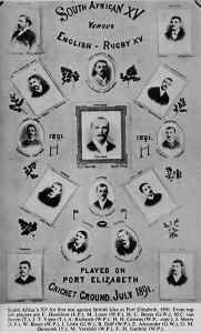 1891 Springbok Rugby Team