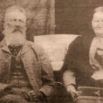 Jan Vorster photographed with his wife
