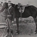 Jan Smuts on Commando with his horse Charlie