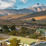 Klaarstroom with the Swartberg Mountains beyond
