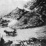 Horse and Carriage on Swartberg Pass in the 1880s