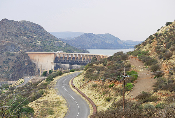 Van der Kloof Dam near Petrusville