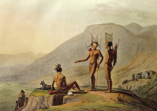 Bushmen were the original inhabitants of the mountains and valleys surrounding Nieu Bethesda