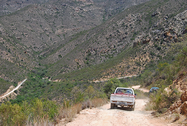Easterly descent of Combrink's Pass