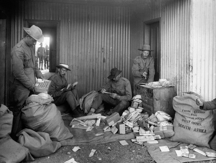 British Army Mail Sorting Office at De Aar