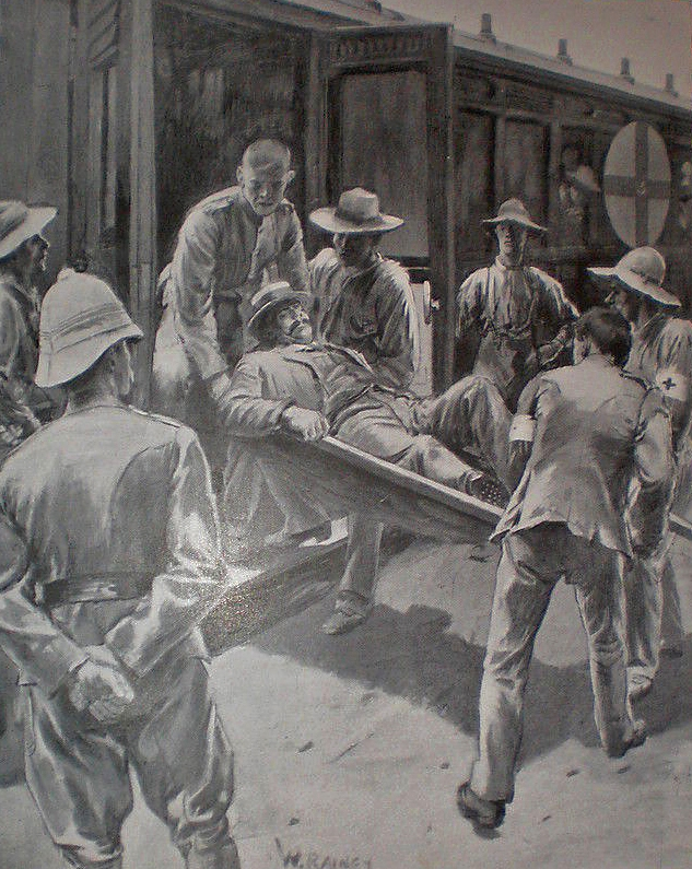 Capture of a wounded Commandant Kritzinger near Noupoort
