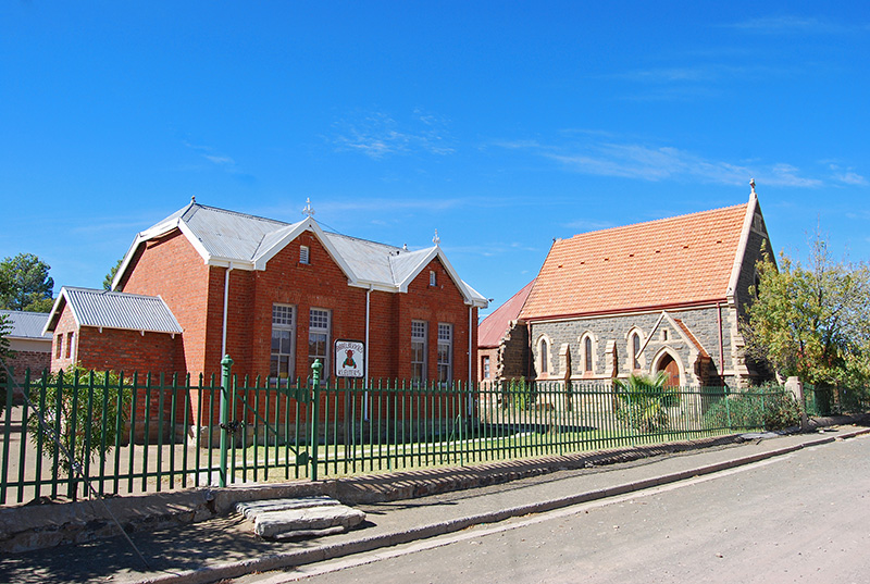 Rear view of St Agnes Anglican Church in Noupoort