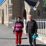 Noupoort locals outside the Presbyterian Church
