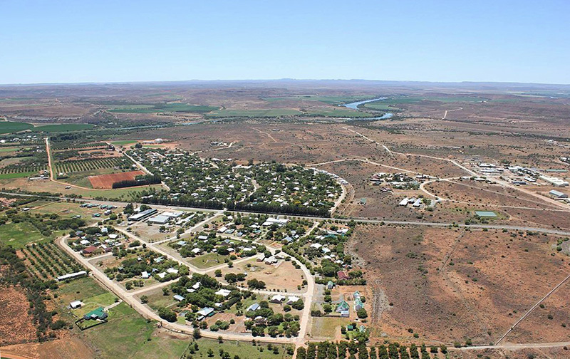 Aerial view of Orania