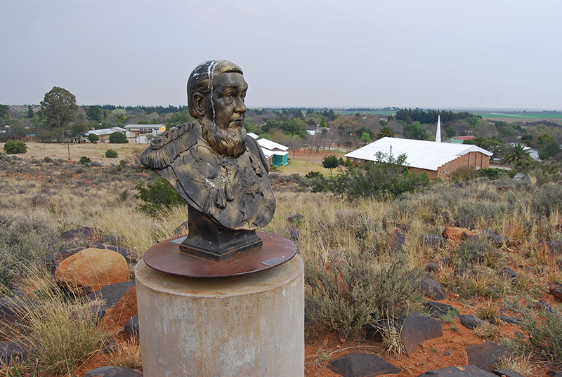Bust of President Paul Kruger on Monument Hill in Orania
