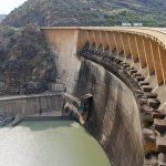 The 108-metre high Vanderkloof Dam Wall