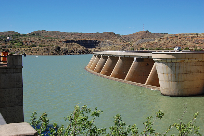 View of the Vanderkloof Dam Wall