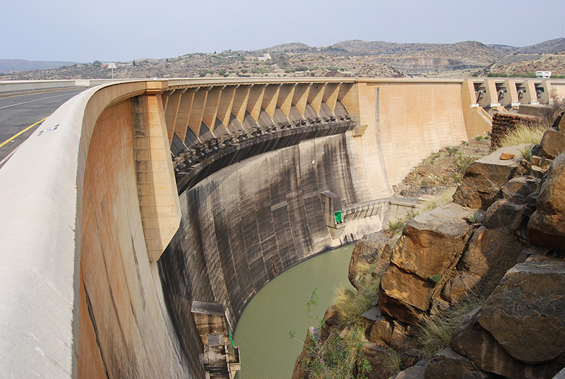 View from the Free State side of the Dam Wall