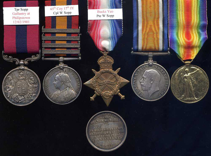 Medals of Corporal W. Sopp