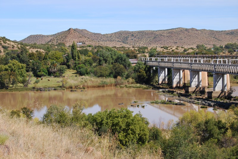 Norval's Pont from the northern bank of the Orange River